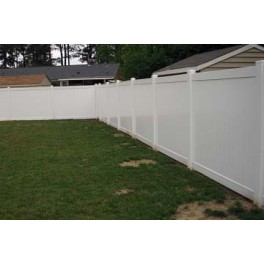 Pack of 6 - White Privacy Fence TG - 8ft Wide and 6ft High