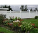 Pack of 15 White Privacy Fence with Lattice - 8ft Wide and 6ft High