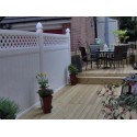 Pack of 25 White Privacy Fence with Lattice - 8ft Wide and 6ft High