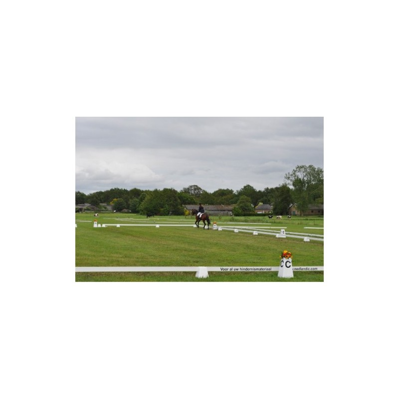 dressage arena 20m x 60m with 12 letter towers