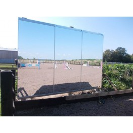 8ft x 4ft Mirror for Training WITH galvanised frame - Qty 1