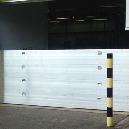Nautilus Flood Barrier 3850mm wide (with Demountable Post) - 400mm High - One Floodboard with Reveal Fix Rails