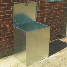 Heavy Duty 1 Compartment Galvanised MEDIUM Feed Bin