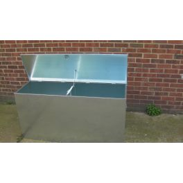 Heavy Duty - 2 Compartments Extra Large Galvanised Feed Bin