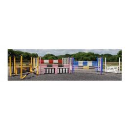 7 Fence Mini Competition Course with Practice (lightweight) Pole Choice