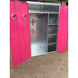 Professional Double Width Tack & Storage Locker (Coloured Doors)