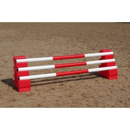 Pair of Sloping Blocks & 3 x 3 Band Poles