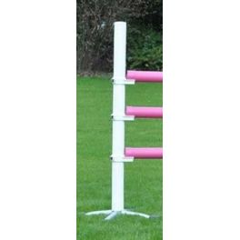 White Upright Stand with a Safety Rotating Jump Cup