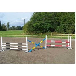 Set of 3 Upright Stands with Poles
