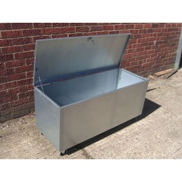 Premium Galvanised Mobile 1 Compartment Feed Bin Medium