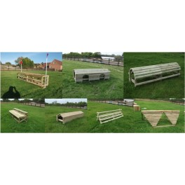 "Set of 7 ""8ft and 10ft wide"" Cross Country Fences"