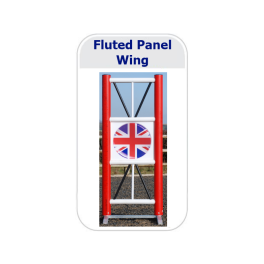 Fluted Panelled Show Jump Wings (Pair)