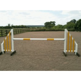 Show Jumps - Set C - 4ft Wings, 8ft Pole + Cups - Rustic
