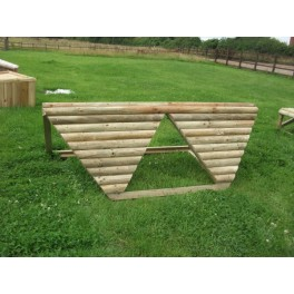 Sharks Teeth - Cross Country Jump - 8ft x 18 inches