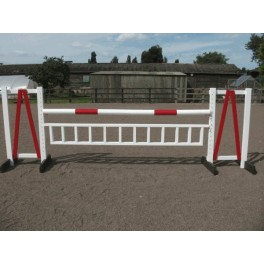 Show Jumps - Set E - 5ft Wings, 10ft Pole, 10ft Hanging Ladder + Cups - Rustic