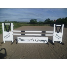 Personalised Jumps - Style 1 - 8 ft x 4 ft, One colour, advertising One side