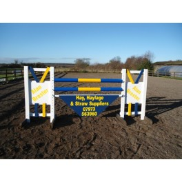 Personalised Jumps - Style 5/ Skinny - 8 ft x 4 ft, One colour, advertising One side