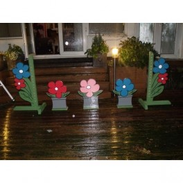 Countryside Set of 5 Show Jump Fillers & Wings