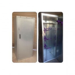 3 Saddle Extra Wide Tack Locker - Galvanised - standard